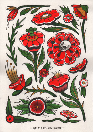 Ink Arcade Ink Arcade Tattoo Studiomitch - flowers