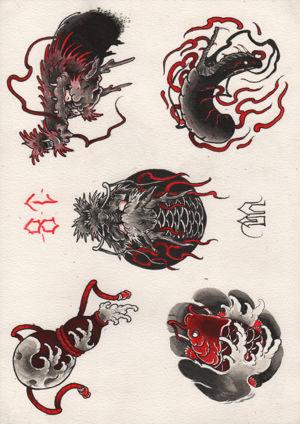 Ink Arcade Ink Arcade Tattoo Studioya - flash 2